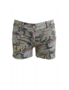 Limited DR W Green Camo Shorts