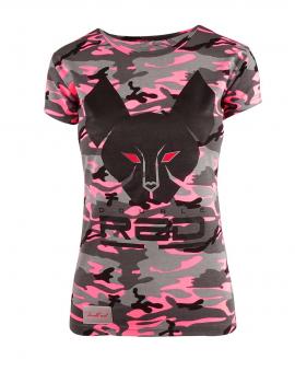 DR W T-shirt Cat Neon Pink Camo