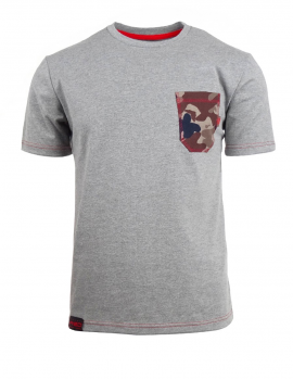 Šedé tričko Camo pocket