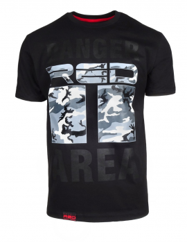 DR M T-shirt Danger Red Area Black Grey Camo