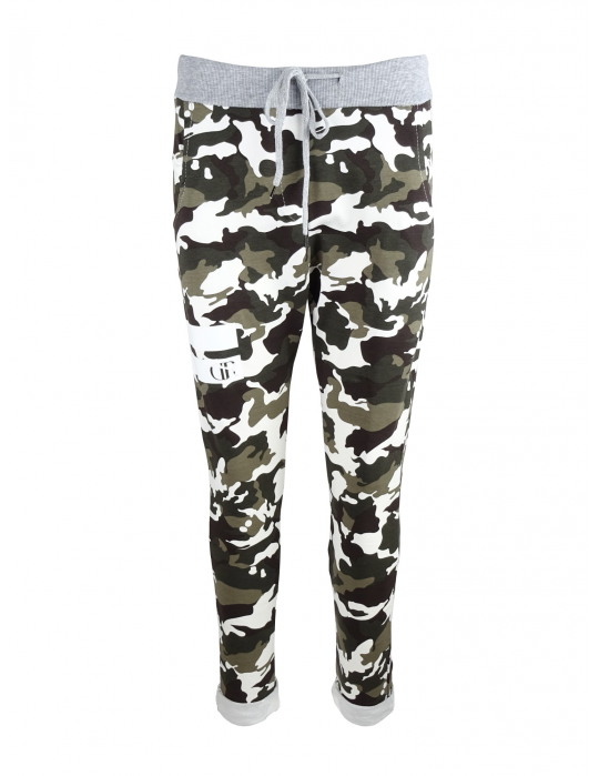 Limited DR W Camo Sweatpants with White Grey Details - Great Ride 18b30bf3bc