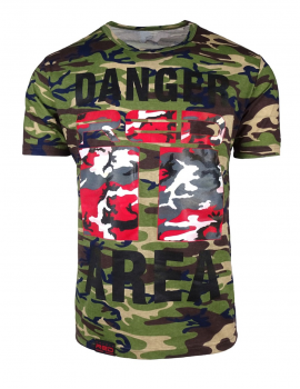 DR M T-shirt Danger Red Area Green Camo