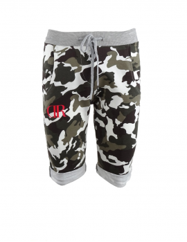 Limited DR W Green Camo Short Sweatpants