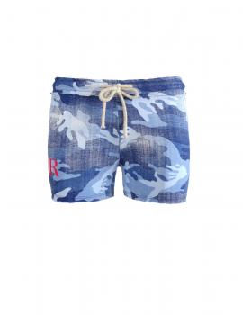 Limited W Blue Denim Camo Sweatshorts
