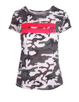 DR W T-Shirt Stripes Edition B&W Camo