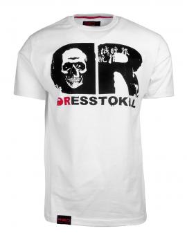 DR M T-shirt DressToKill White Skull