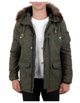 Pánsky zelený zimný kabát