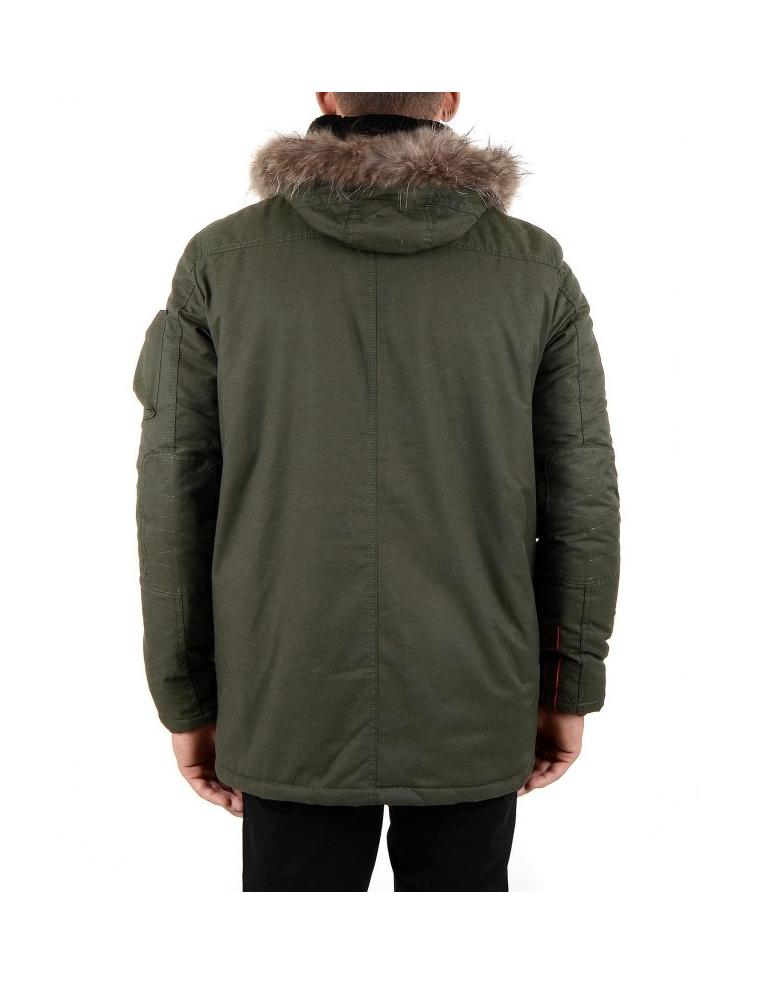 Pánsky zelený zimný kabát - Great Ride 799151f3784