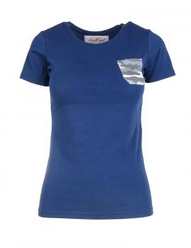 Modré tričko Camo pocket